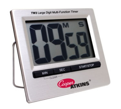 Cooper Instrument TW3-0-8 Timer w/ Large Digit LCD Screen, Stainless