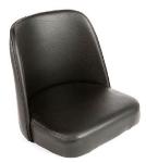 Oak Street Mfg SL2133TOP-BLK Replacement Bar Stool Bucket Seat, Black Vinyl