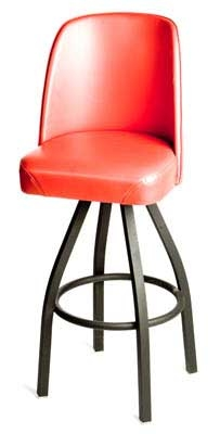 Oak Street Mfg SL2136-RED Swivel Bar Stool w/ Single Ring & Re