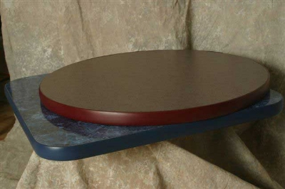 Oak Street Mfg CTM60R 60-in Round Table Top w/ Laminate Surface & Rubber T-Mold Edge