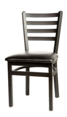 Oak Street Mfg SL2160 Dining Chair w/ Metal Ladder Back &a
