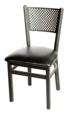 Oak Street Mfg SL2161 Dining Chair w/ Metal C
