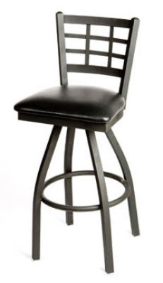 Oak Street Mfg SL2163-S Swivel Bar Stool w/ Metal Wind