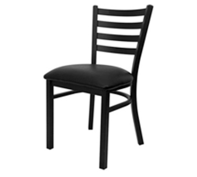 Oak Street Mfg SL1160 Economy Dining Chair w/ Metal Ladder Back