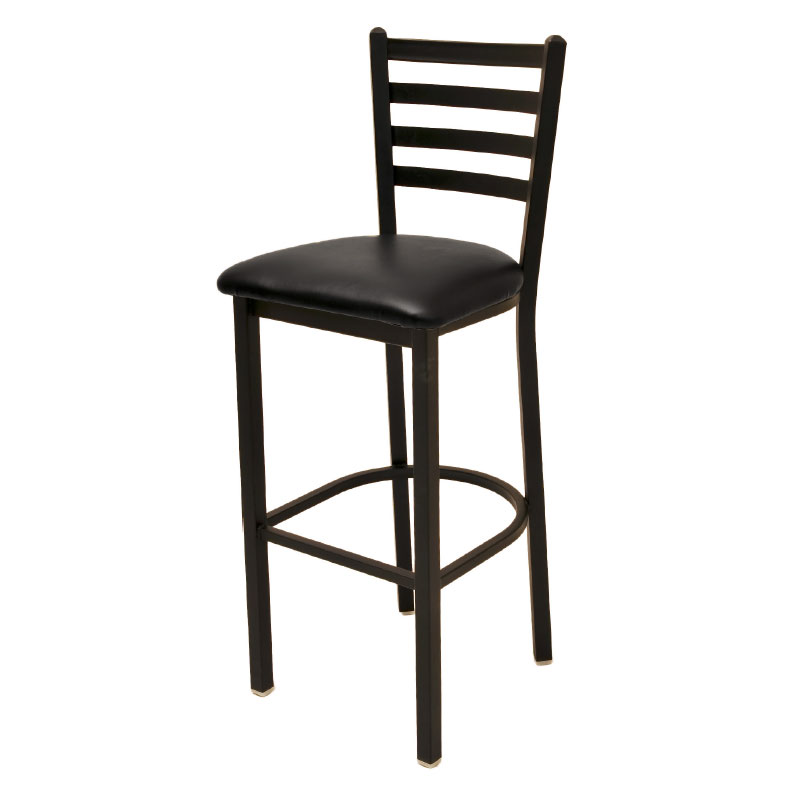 Oak Street Mfg SL1301 Economy Bar Stool w/ Metal Ladder Back &