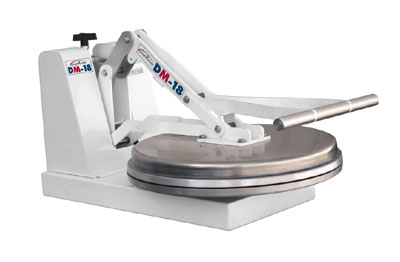 DoughXpress DM-18NH Manual Pizza Dough Press - Aluminum Platens, Cold Press