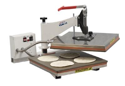 DoughXpress TXM-15 Manual Tortilla Pizza Dough Press, 15 x 15-in Platen, Export