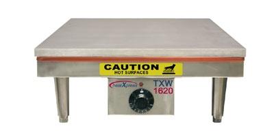 DoughXpress TXW-1620 120 Tortilla Warmer, 16 x 20-in Platen & Temperature Dial, 120 V