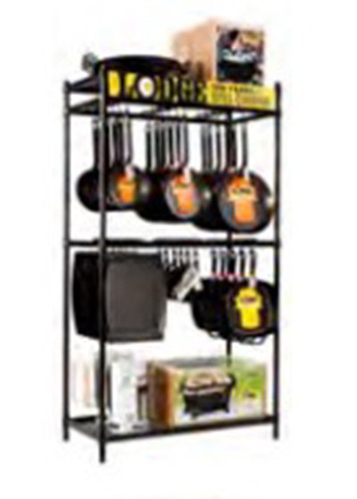 Lodge BMFT3 3-ft Fixture w/ Adjustable Bars & Free Sliding Hanging Hooks, Metal, Black