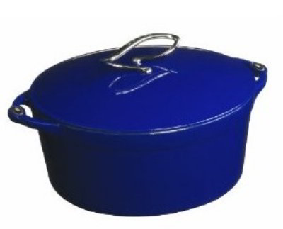 Lodge E6D30 6-qt Cast Iron Dutch Oven, Enamel, Liberty Blue