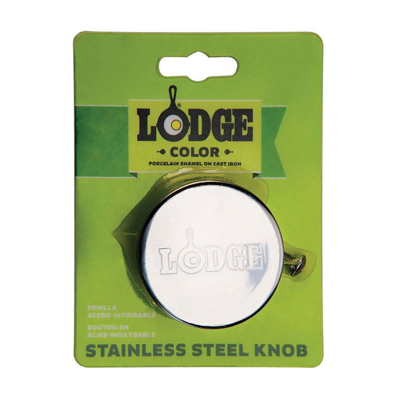 Lodge ECSSK 2-in Stainless Knob for Enamel Cover, Oven Safe to 450-Degree F