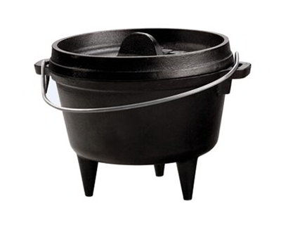 "Lodge L6CO3 1-qt Dutch Oven - 6.62x3"", Bail Wire, 3-Legs, Cast Iron"