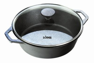 Lodge L8DOLG3 Lodge Logic Dutch Oven with Loop Handles, 5 qt, 10-1/4 in dia, 4 in Deep