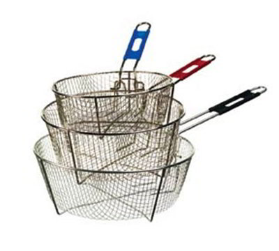 "Lodge 10FB2 10.5"" Round Fryer Basket, Nickle Plated"