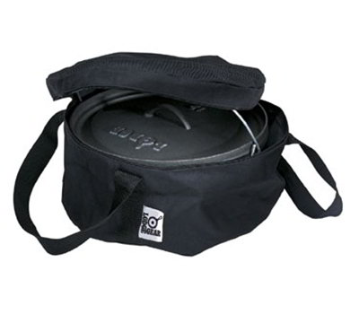 Lodge A1-10 10-in Camp Dutch Oven Tote Bag w/ Double-Padded Bottom, Black Polyester