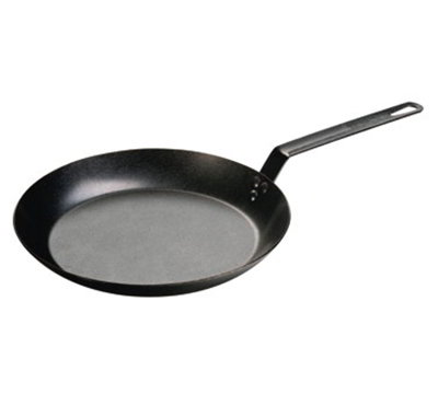 Lodge CRS12 12-in High Heat Seasoned Skillet w/ 3-Steel Rivets