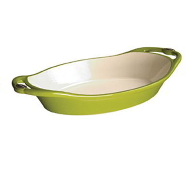 Lodge E2OC50 2-qt L Series Oval Casserole, Cast Iron, Enamel, Apple Green