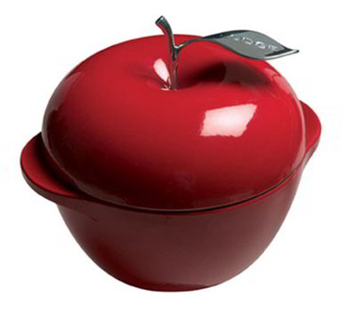 Lodge E3AP40 3-qt L Series Apple Pot, Cast Iron,