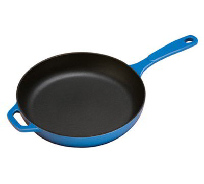 Lodge EC11S33 11-in Round Cast Iron Skillet w/ Matte Black Enamel Interior, Caribbean