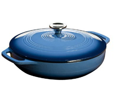 Lodge EC3CC33 3-qt Cast Iron Casserole w/ Cover, Enamel, Cari