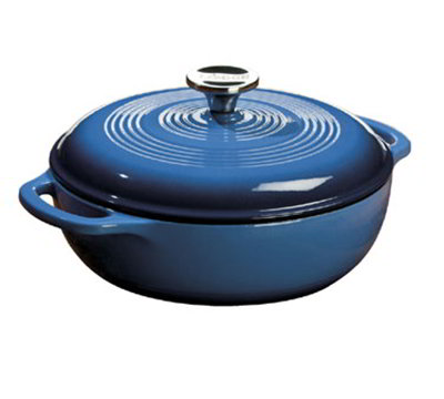 Lodge EC3D33 3-qt Cast Iron Dutch Oven, Enamel, Caribbean