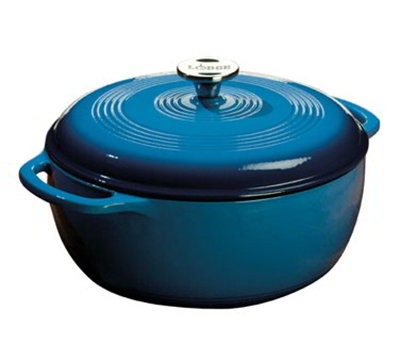 Lodge EC6D33 6-qt Cast Iron Dutch Oven, Enamel, Caribbean