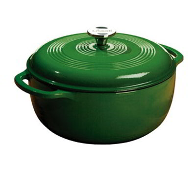 Lodge EC6D53 6-qt Cast Iron Dutch Oven, Enamel, Emerald