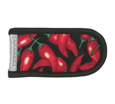 Lodge HH1 Hot Handle Mitt w/ Silicon Lining & Red Chili Pepper Design