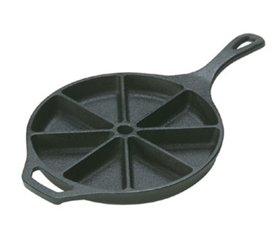 Lodge L8CB3 9-in Round Cast Iron Seasoned Wedge Pan w/ 8-Slice Capacity