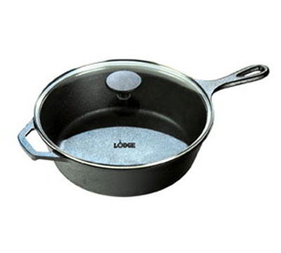 Lodge L8DSKG3 10.25-in Cast Iron Seasoned Skillet w/ 3-qt Capacity & Tempered Glass Lid