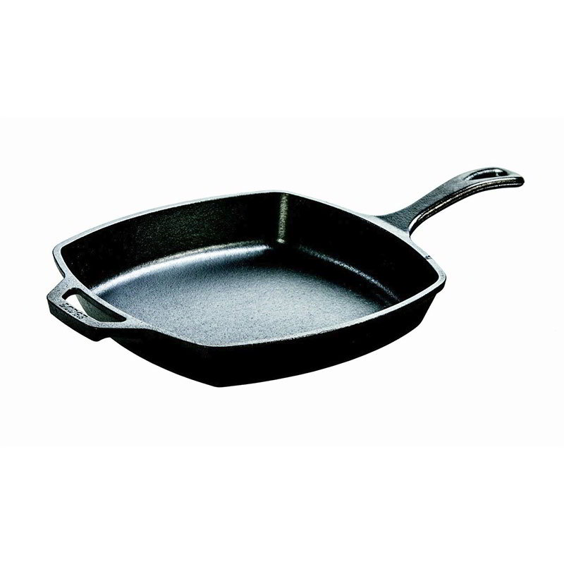 Lodge L8SQ3 10.5-in Square Cast Iron Seasoned Skillet