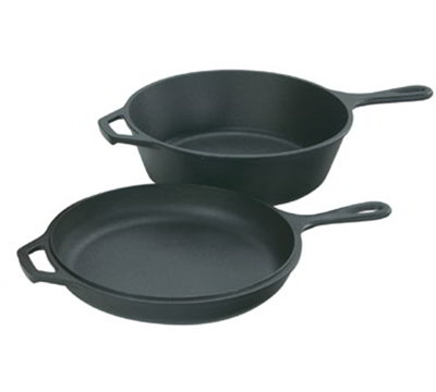 Lodge LCC3 10.25-in Cast Iron Seasoned Combo Cooker w/ 3-qt Capacity & Skillet Lid