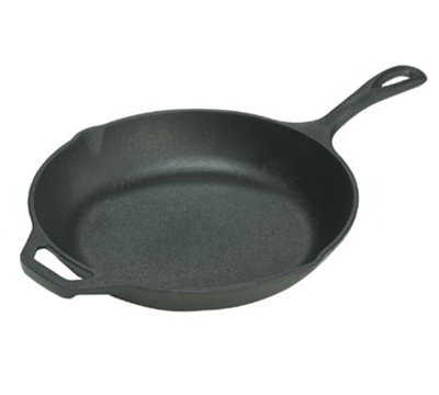 Lodge LCS3 10-in Round Cast Iron Seasoned Chef Skillet