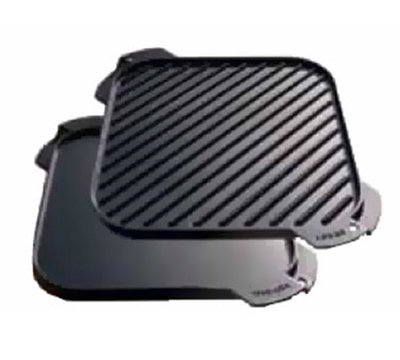 Lodge LSRG3 10.5-in Square Cast Iron Seasoned Griddle w/ Single Burner, Reversible