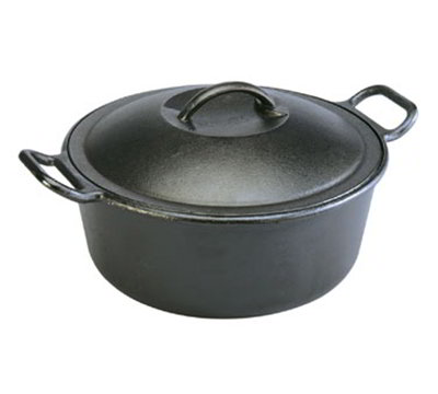 Lodge P10D3 10-in Round Cast Iron Se