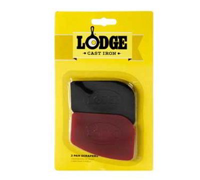 Lodge SCRAPERPK Pan Scraper Set w/ 1-Red & 1-Black, Polycarbonate