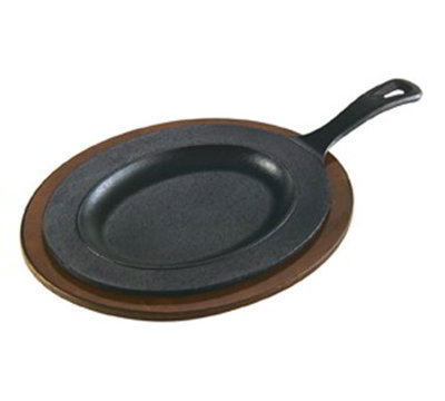 Lodge LOSR3 Oval Cast Iron Serving Griddle, 10x7-in