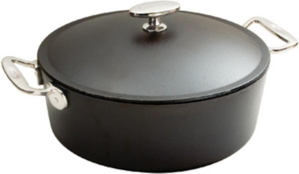 Lodge SS12D Signature Series Dutch Oven, 7 Quarts, 12 in x 4 in Deep, Pre-Seasoned Cast Iron