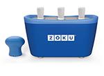 ZOKU ZK101 BL Quick Pop Maker w/ 6-Sticks & 6-Drip Guards, Super Tool, Blue