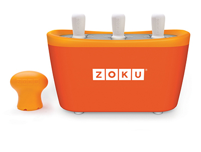 ZOKU ZK101 OR Quick Pop Maker w/ 6-Sticks & 6-Drip Guards, Super Tool, Orange
