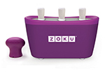 ZOKU ZK101 PU Quick Pop Maker w/ 6-Sticks & 6-Drip Guards, Super Tool, Purple