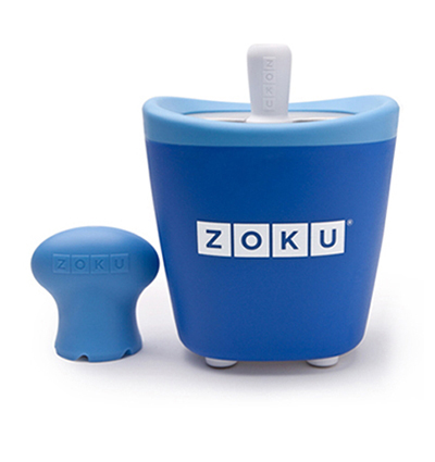 ZOKU ZK110 BL Single Quick Pop Maker w/ 3-Sticks & 3-Drip Guards, Super Tool, Blue
