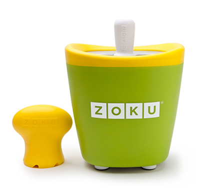 ZOKU ZK110 GN Single Quick Pop Maker w/ 3-Sticks & 3-Drip Guards, Super Tool, Green