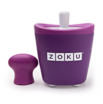 ZOKU ZK110 PU Single Quick Pop Maker w/ 3-Sticks & 3-Drip Guards, Super Tool, Purple