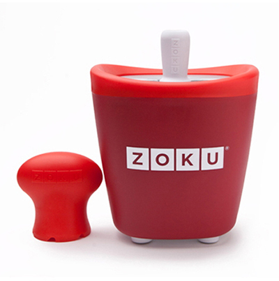ZOKU ZK110 RD Single Quick Pop Maker w/ 3-Sticks & 3-Drip Guards, Super Tool, Red