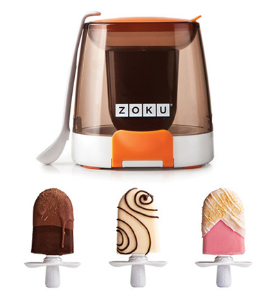 ZOKU ZK111 Chocolate Station for Zoku Quick Pops w/ Drizzle Spoon & 2-Sprinkle Trays