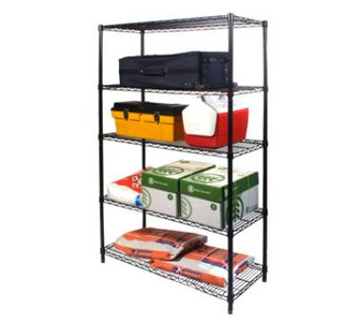 Focus 30061 Industrial Shelving Kit, Black Epoxy Coated, 42 x 18 x 72-in H