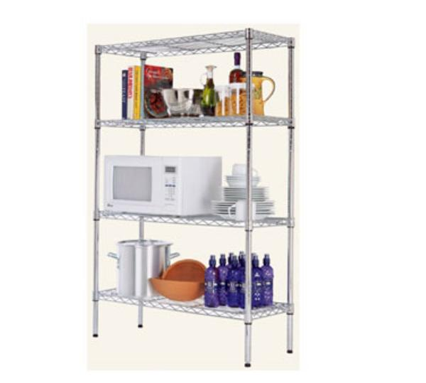 Focus 31436 Medium Duty Shelving Kit, Chrome Plated, 14 in D x 36 in W x 54 in