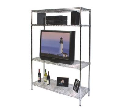 Focus Foodservice 31848Z Medium Duty Shelving Kit Chrome Plated 18 in D x 48 in W x 74 in H Restaurant Supply