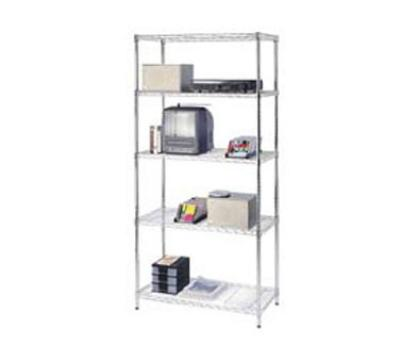 Focus 31856 Medium Duty Shelving Kit, Chrome Plated, 18 in D x 36 in W x 72 in H, 5 Shelves